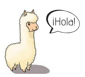 "Get in touch today with Peru Baby Lama. Here is a cute baby lama saying, ""Hola!"""